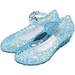 cheap Lolita Dresses-Princess Cinderella Elsa Shoes Masquerade Girls' Movie Cosplay Cosplay Halloween White / Purple / Red Shoes Carnival Masquerade PVC(PolyVinyl Chloride)
