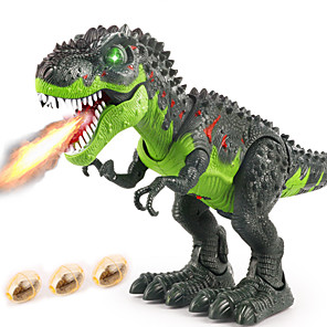 cheap Animal Action Figures-Dinosaur Toy R / C Walking Dinosaur Holiday Electronic Walking Remote Control with Moving Head, Lights, Roaring Sounds Party Favors Kid's Adults' Party Favors, Science Gift Education Toys for Kids