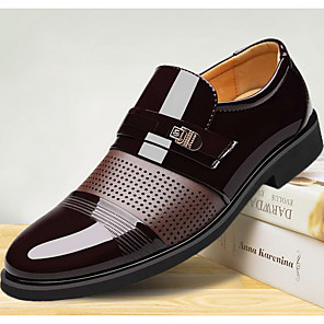 cheap Men's Slip-ons & Loafers-Men's Spring & Summer Classic Daily Loafers & Slip-Ons PU Brown / Black