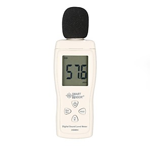 cheap Testers & Detectors-AS804 Digital Sound Level Meter Decibel 30d-130dBA Diagnostic-tool Monitoring Tester Noise DB Detector Analyzer