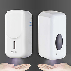 cheap Soap Dispensers-Touchless Automatic Liquid Dispenser Machine High Volume 1000ML Automatic Induction Machine Touchless Wall-Mounted Dispenser Black or White Random Delivery