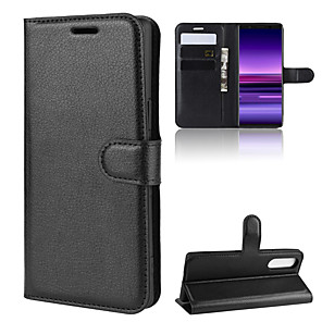 cheap Other Phone Case-For Sony Xperia 1/Sony Xperia 5/Sony Xperia 10 Litchi Texture Horizontal Flip Leather Case with Wallet & Holder & Card Slots