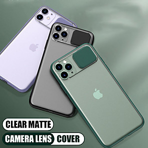 cheap iPhone Cases-Slide Camera Lens Protection Shockproof Phone Case For iPhone SE 2020 / 11/ 11Pro / 11 Pro Max / X /  XR / XS Max / 7/ 7Plus / 8 / 8 Plus / 6Plus / 6 Soft TPU Matte Back Cover