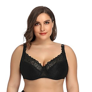 cheap Wetsuits, Diving Suits & Rash Guard Shirts-Women's Lace Bras Underwire Bra Full Coverage Bra White Black Red