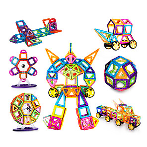 cheap Softshell, Fleece & Hiking Jackets-Magnetic Blocks Magnetic Tiles Building Blocks Building Bricks 200 pcs Classic Theme Architecture Vehicles Transformable Parent-Child Interaction Classic & Timeless Chic & Modern Building Toys Boys