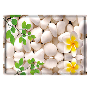 cheap Wall Stickers-Digital Printing of Pebbles Rectangle 2/5 (1 cm) Doormats Machine Made Bonded Non Skid Classic