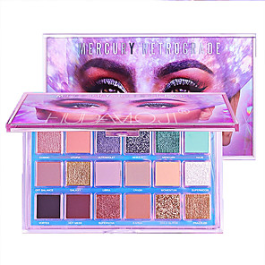 cheap Eyeshadows-18 Colors Eyeshadow Eyeshadow Palette Matte Eye Cosmetic Health&Beauty Waterproof Women Best Quality Palette Large Capacity Portable Beauty Daily Makeup Halloween Makeup Party Makeup Cosmetic Gift