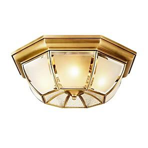 cheap Doorbell Systems-QIHengZhaoMing 3-Light 35 cm Geometric Shapes Flush Mount Lights Metal Glass Brass Modern 110-120V / 220-240V