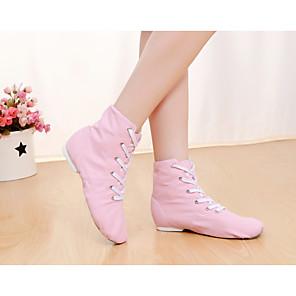 cheap Jazz Shoes-Men's Women's Dance Shoes Ballet Shoes Jazz Shoes Dance Sneakers Flat Sneaker Flat Heel Nude / Pink / Green / Performance / Practice