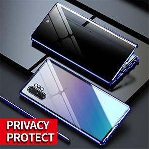 cheap Party Sashes-Magnetic Tempered Glass Double Sided Case For Samsung Galaxy S20Ultra / S20 Plus / S20 / A70 / A50 / A50S / A30S / Note 8 / Note 9 / Note10 Note 10Plus / S10 / S9 / S8Plus Anti Peeping