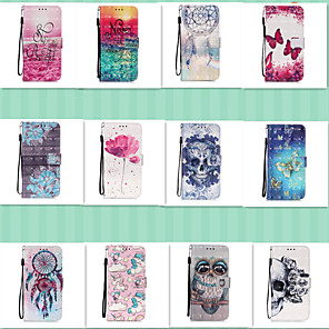 cheap Samsung Case-Case for Samsung scene graph S20 S20 Plus S20 Ultra A51 A71 3D bright cute painting pattern PU leather material card holder lanyard all-inclusive anti-fall mobile phone case YB