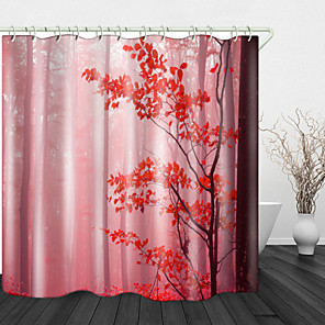 cheap Shower Curtains-Bathroom Shower Curtains & Hooks Rainbow Neoclassical Polyester Waterproof