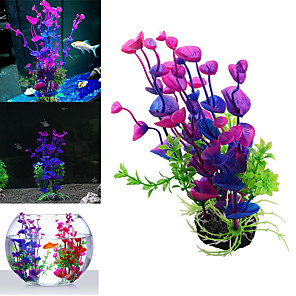 cheap Aquarium Décor & Gravel-Fish Tank Decoration Simulation Artificial Trumpet Environmental Aquarium Accessories Simulation Fake Aquatic Plants purple grass