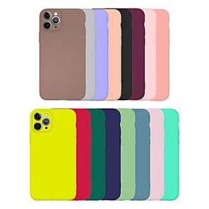 cheap iPhone Cases-Cheap Case For Apple iPhone 11 Simple Case Multi-colored Case Ultra-thin / Frosted Back Cover Solid Colored TPU Case for iPhone SE2020 iPhone 11 Pro XS/XR/XS Max/11ProMax/7p/6/7/8