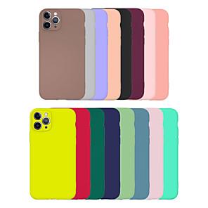 povoljno iPhone maske-futrola za Apple iphone 11/11 pro / 11 pro max / se2020 / 6/7/8 / x / xr / xsmax / 7p / 6p ultra tanka / smrznuta stražnja navlaka u punoj boji tpu u boji