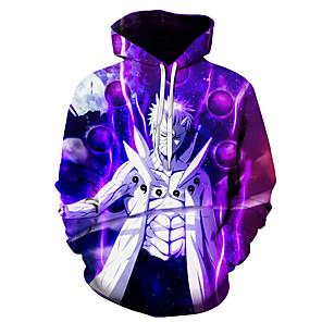 cheap Everyday Cosplay Anime Hoodies & T-Shirts-Inspired by Naruto Naruto Uzumaki Cosplay Costume Hoodie Polyster Print Printing Hoodie For Men's / Women's