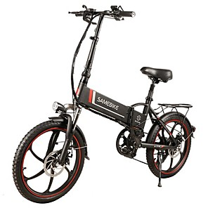 cheap Smartphones-Samebike 20LVXD30 Portable Folding Smart Electric Moped Bike 350W Motor Max 35km/h 20 Inch Tire