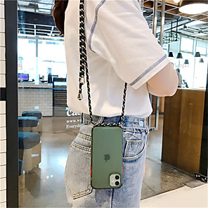 cheap iPhone Cases-Clear Case With Crossbody Lanyard Rope For iPhone SE 2020 / 11 / 11Pro /11 Pro Max / XS /  X / XR / 8 / 8Plus / 7 / 7Plus / 6 / 6Plus / 6S /6s Plus Necklace Shoulder Strap Phone Bag Candy Cover