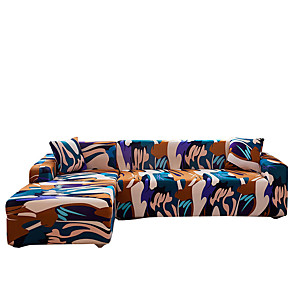 cheap Rugs-Colorful Abstract Slipcovers Stretch Sofa Cover Super Soft Fabric Couch Cover with One Free Pillow Case