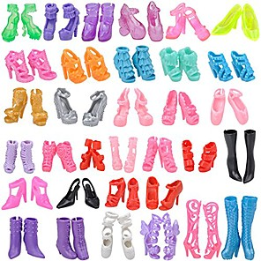cheap Dolls Accessories-Doll Shoes 10 Pairs Plastic For 11.5 Inch Doll Handmade Toy for Girl's Birthday Gifts  Random Color Not included shoes rack / Kids