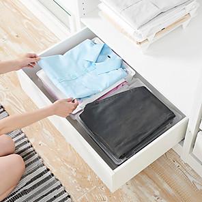 cheap Storage & Organization-Plastic Closet Organizers Rectangle New Design Home Organization Storage  Storage stacking board clothes storage wardrobe storage board 1pc 35*29*5cm