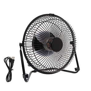 cheap Household Appliances-USB Mini Fan Powered Notebook Desktop Cooling Fan Cooler Metal Air Conditioning Appliances For PC Laptop Computer Black 5 Inchs