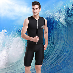 cheap Wetsuits, Diving Suits & Rash Guard Shirts-SBART Men's Wetsuit Top 2mm SCR Neoprene Top Thermal / Warm Sleeveless Front Zip - Diving Surfing Snorkeling Autumn / Fall Spring Summer / Micro-elastic