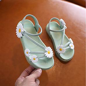 cheap Kids' Sandals-Girls' Sandals Comfort PU Little Kids(4-7ys) / Big Kids(7years +) Pink / Green Summer