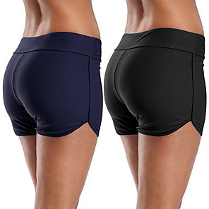 cheap Wetsuits, Diving Suits & Rash Guard Shirts-Women's Swim Shorts Bottoms Breathable Quick Dry Limits Bacteria Swimming Diving Solid Colored Summer / High Elasticity