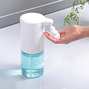 cheap Bathroom Gadgets-320ml Automatic Foam Hand Sanitizer Sensor Soap Dispenser Foam Hand Sanitizer Induction Bubble Machine Soap Dispenser