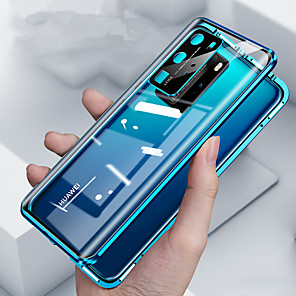 cheap Huawei Case-Magnetic Double Sided Case For Huawei Huawei P30 / Huawei P30 Pro / Huawei Mate 20 pro Shockproof / Dustproof Full Body Cases Transparent Tempered Glass / Metal