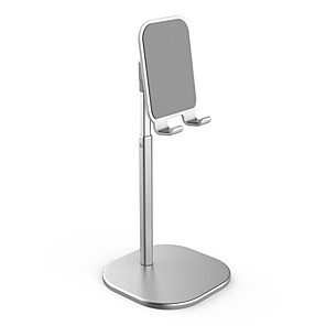 cheap Phone Mounts & Holders-NEW Desk Mobile Phone Holder Stand For iPhone iPad Adjustable Metal Desktop Tablet Holder Universal Table Cell Phone Stand