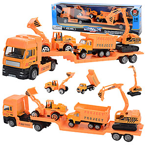 cheap Toy Trucks & Construction Vehicles-1:48 Metal Truck Race Car Backhoe Loader Wheel Excavator Plane Diecast Vehicle Construction Set Toys Car Simulation Parent-Child Interaction Boys' Kids Car Toys