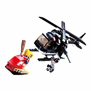 cheap Building Blocks-Building Blocks Educational Toy Construction Set Toys 221 pcs Cartoon Airplane compatible Plastic Shell Legoing Exquisite Hand-made Decompression Toys DIY Boys and Girls Toy Gift / Kid's