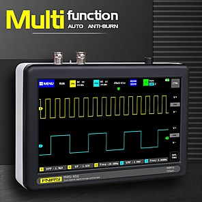 cheap Testers & Detectors-FNIRSI 1013D  Digital Tablet Oscilloscope Dual Channel 1 g 100 m Bandwidth Digital Oscilloscope Sampling Rate of Small Tablets