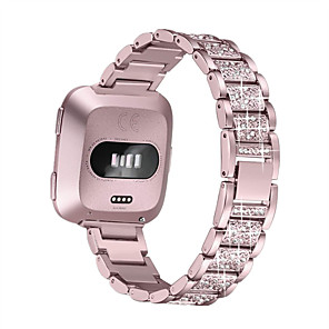 cheap Smartwatch Bands-Watch Band for Fitbit Versa / Fitbi Versa Lite / fitbit versa 2 Fitbit Jewelry Design Stainless Steel Wrist Strap