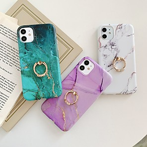 cheap iPhone Cases-Case for Apple scene map iPhone 11 11 Pro 11 Pro Max X XS XR XS Max 8 Colorful marble pattern fine matte TPU material IMD process ring bracket all-inclusive mobile phone case LX