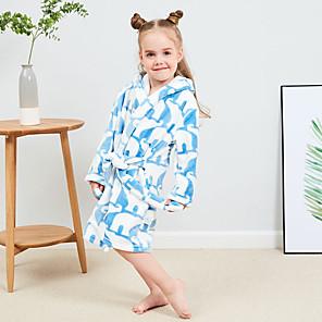 cheap Bathroom Sink Faucets-Kid's Kigurumi Pajamas Bathrobe Oodie Rabbit Bunny Onesie Pajamas Flannel Fabric Yellow / Pink / Light Blue Cosplay For Boys and Girls Animal Sleepwear Cartoon Festival / Holiday Costumes / Bath Robe