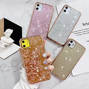 cheap iPhone Cases-Case For iPhone 11 / iPhone 11 Pro / iPhone 11 Pro Max Ultra-thin / Glitter Shine Back Cover Glitter Shine TPU / Silica Gel Leaf For iPhone XR / XS Max / X /iPhone 7/8 Plus / iPhone Se(2020)
