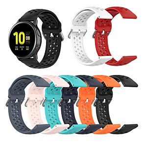 cheap Smartwatch Bands-Watch Band for Samsung Galaxy Watch 42mm / Samsung Galaxy Active / Samsung Galaxy Watch Active Samsung Galaxy Sport Band / Classic Buckle / Modern Buckle Silicone Wrist Strap