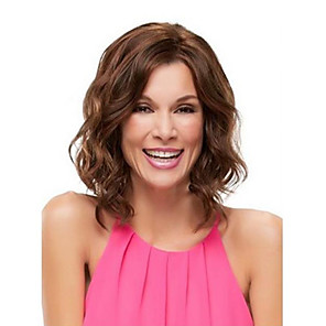 cheap Costume Wigs-Synthetic Wig Body Wave Asymmetrical Wig Medium Length Strawberry Blonde Synthetic Hair 12 inch Women's Party Brown