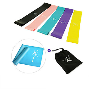 cheap Fitness Gear & Accessories-Resistance Loop Exercise Bands Resistance Bands for Legs and Butt 5 pcs Resistance Bands Sports Emulsion Home Workout Yoga Pilates Portable Durable Lift, Tighten And Reshape The Plump Buttock Shaper