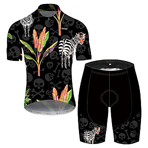 cheap Cycling Jersey & Shorts / Pants Sets-21Grams Men's Short Sleeve Cycling Jersey with Shorts Spandex Polyester Black Oktoberfest Beer Bike Clothing Suit UV Resistant Breathable Quick Dry Sweat-wicking Sports Oktoberfest Beer Mountain Bike