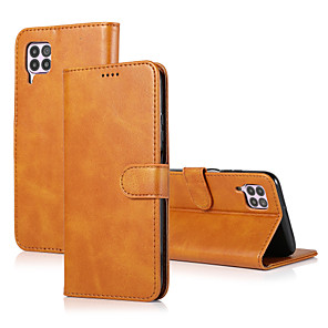 cheap Huawei Case-Case For Huawei HUAWEI P40 / HUAWEI P40 PRO / P40 lite Card Holder / Shockproof Full Body Cases Tile Genuine Leather
