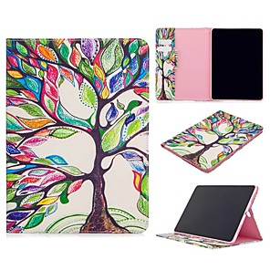 cheap iPad case-Case For Apple iPad Air / iPad 4/3/2 / iPad Mini 3/2/1 Wallet / Card Holder / with Stand Full Body Cases Tree PU Leather