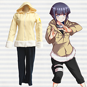 cheap Anime Costumes-Inspired by Naruto Hyuga Hinata Anime Cosplay Costumes Japanese Outfits Top Pants For Men's Women's