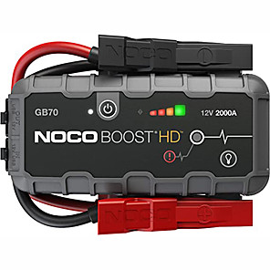 cheap Car Emergency Tools-NOCO Boost HD GB70 2000 Ampere 12 Volt Ultra-Safe Portable Car Lithium Battery Emergency Power Kit Car Jump starter suitable for up to 8 liter gasoline and 6 liter diesel engines