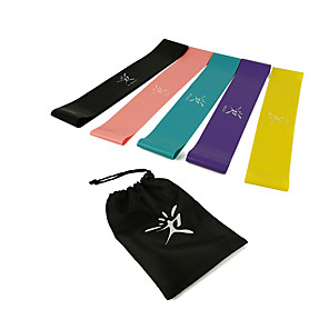 cheap Fitness Gear & Accessories-Resistance Loop Exercise Bands Resistance Bands for Legs and Butt 5 pcs Resistance Bands Sports Latex Home Workout Yoga Pilates Portable Durable Lift, Tighten And Reshape The Plump Buttock Shaper