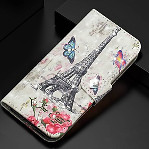 cheap Samsung Case-Case For Samsung Galaxy A51/ Galaxy A20e / Galaxy Note 10 Plus Wallet / Card Holder / Rhinestone Full Body Cases Eiffel Tower PU Leather For Galaxy A71/A10S/A20S/M30S/A2 Core/A10E