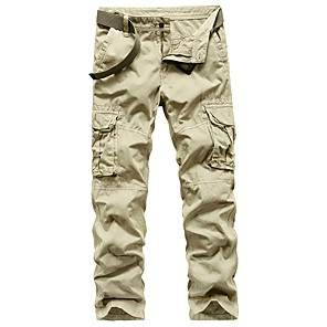 cheap Hiking Trousers & Shorts-Men's Hiking Pants Hiking Cargo Pants Summer Outdoor Loose Breathable Quick Dry Soft Sweat-wicking Cotton Pants / Trousers Bottoms Dark Grey Black Khaki Dark Green Royal Blue Camping / Hiking Hunting